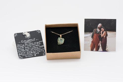 Necklace - emerald