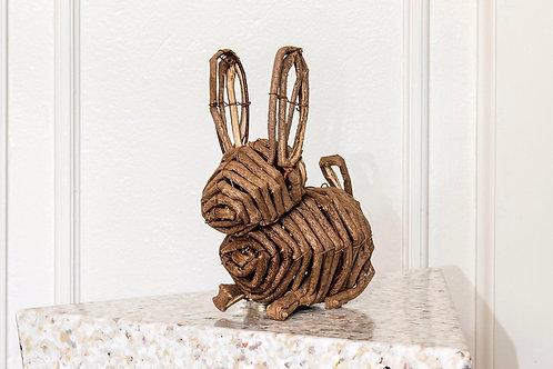 Handmade vine bunny
