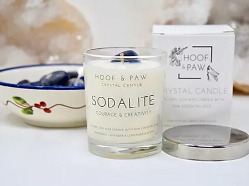 Hoof & Paw sodalite candle