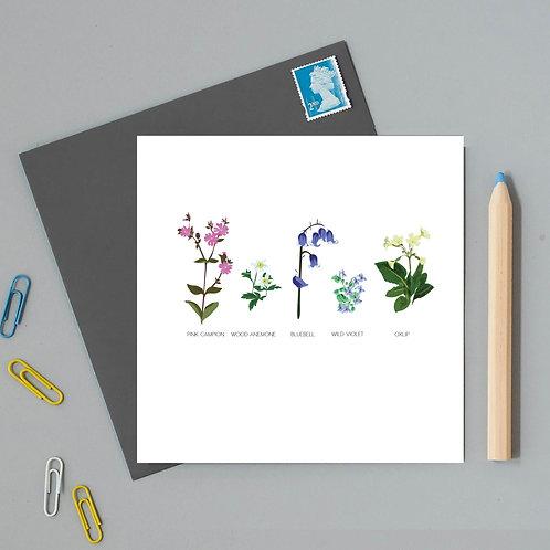 Watlington wildflower card