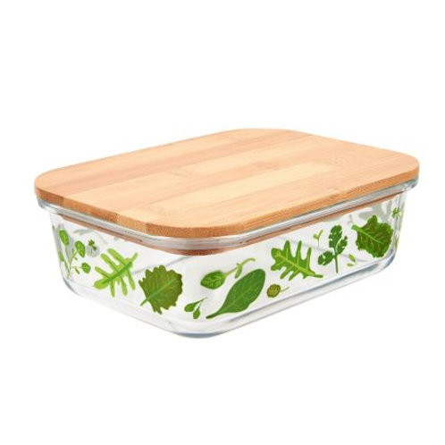 Powered by plants glass storage box large