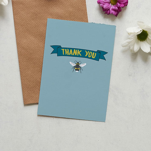 Thank you bee card