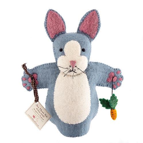 Rabbit felt hand puppet