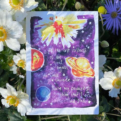 Universe poem plantable card