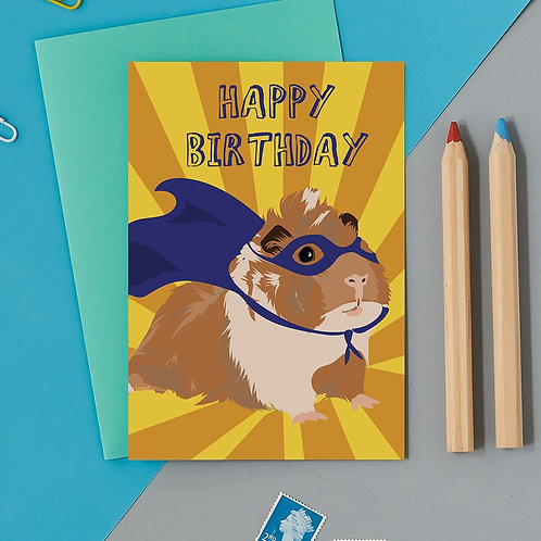 Happy Birthday super guinea pig card