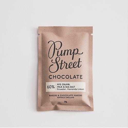 Sourdough & sea salt 66% chocolate bar (20g)
