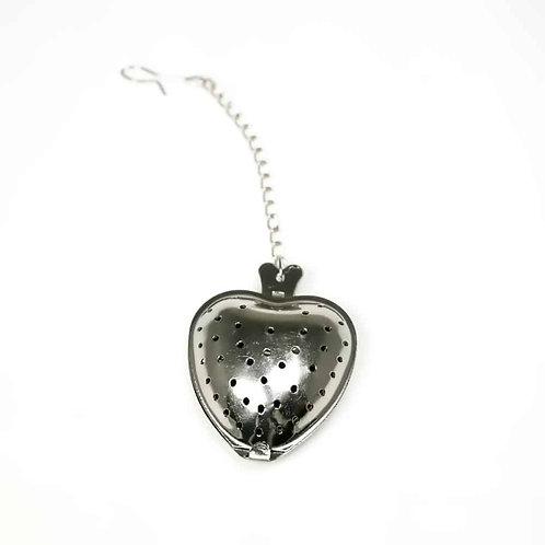 Heart shaped tea infuser on chain