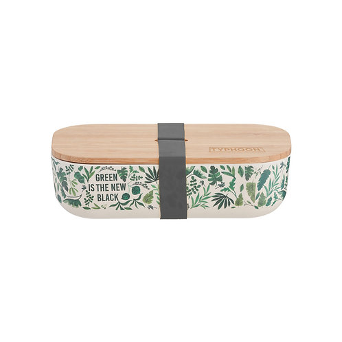 Green is new black bamboo lunch box