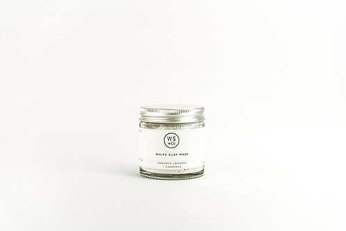 White clay face mask