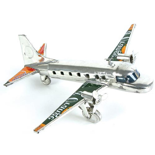 Airplane made from recycled cans