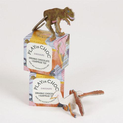 Dinoasaur organic vegan chocolate toy