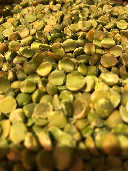 Organic green split peas (100g)
