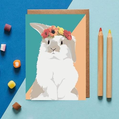 Snowy the rabbit card