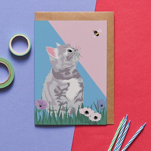Smokey the cat card