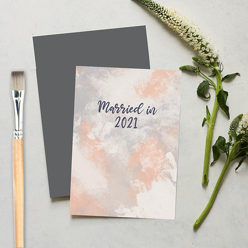 Married in 2021 card