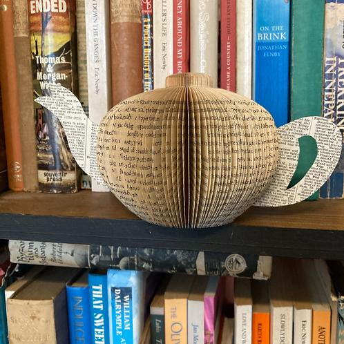 Traditional teapot book art
