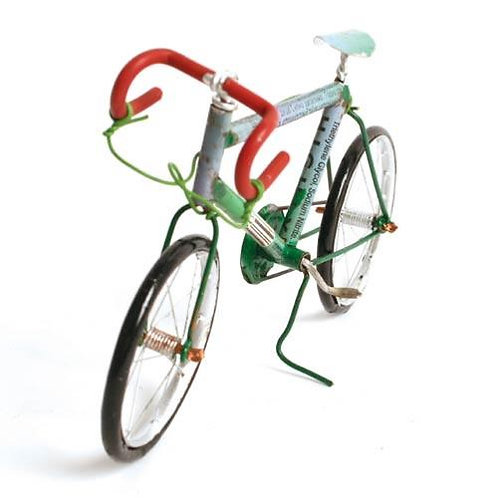 Racing bike made from recycled cans