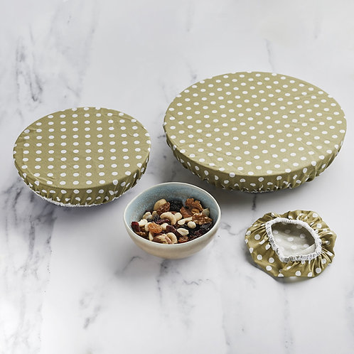 Biodegradable bowl covers - set of 3