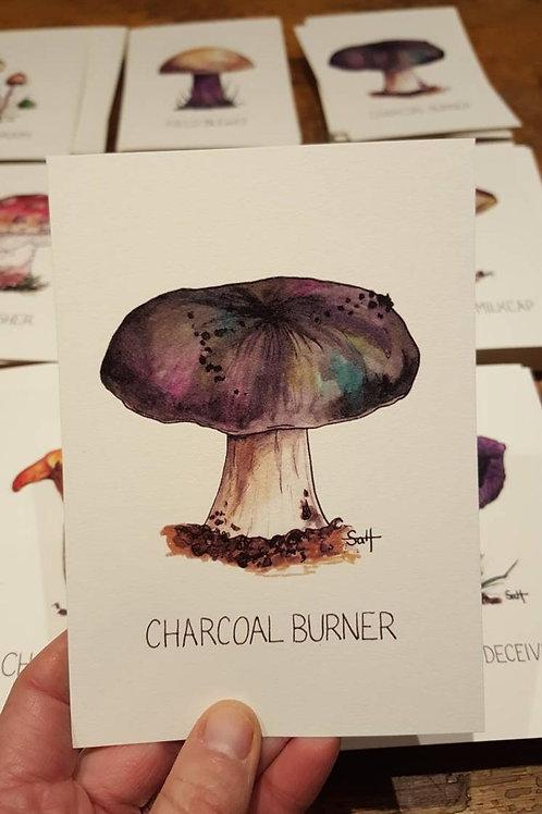 """Charcoal burner"" postcard"