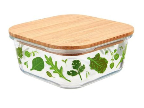 Powered by plants glass storage box small