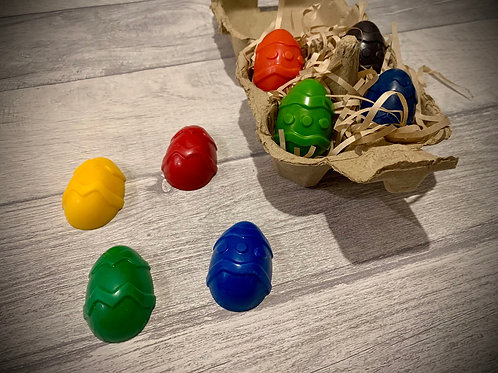 Natural wax Easter egg crayons