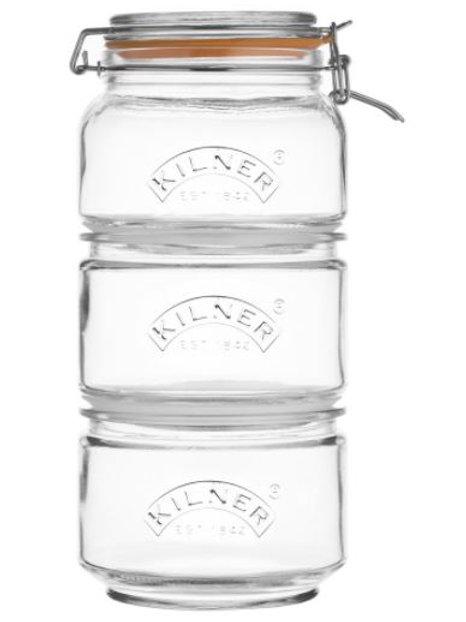 Kilner stackable clip top jars