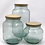 Thumbnail: Recycled glass hurricane storage jar - small