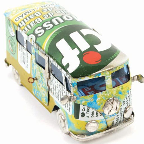 Camper van made from recycled cans