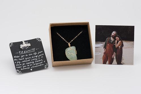 Necklace - prehnite