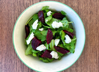 Goat Cheese Salad with Chicken and Beets!