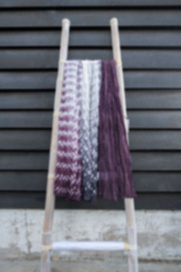 silk shibori scarves