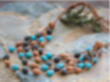 layered silk beads necklace