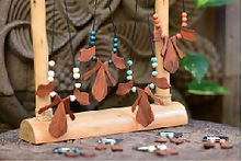 wood & beads necklaces