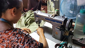 Our skilled tailor in Cambodia