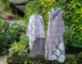 soft silk organza scarves in shibori & plain