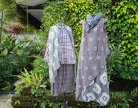 soft silk organza scarves in shibori & plain