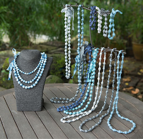 silk bead necklaces