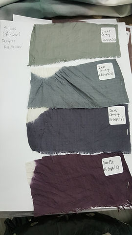 Silk swatches for em collection
