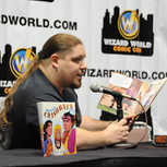 Brimstone_Reads to kids at Wizard World.