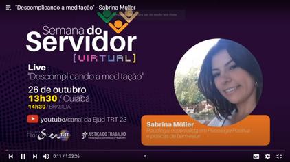 Palestra para o TRT do Mato Grosso em 26