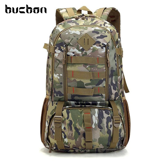 Camo Tactical Backpack Military Army 50L Waterproof Hiking Hunting  Bag