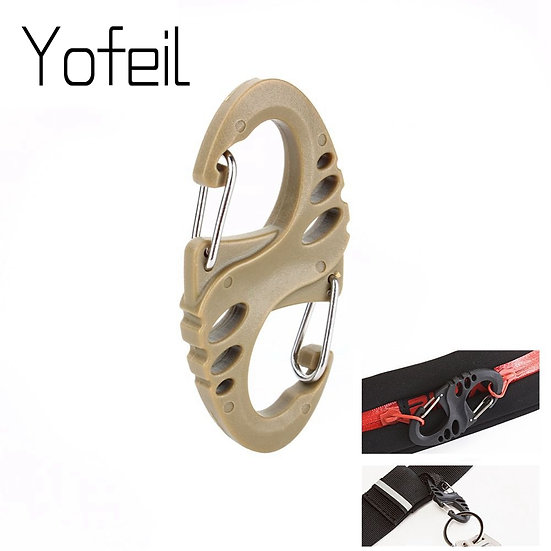 10Pcs S Type Backpack Clasps Carabineers Camping Hooks Paracord Tactical