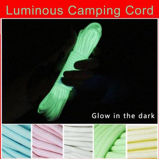 6 Meters Luminous  Glow Rope Survival Camping Hiking Climbing 550LB Cord