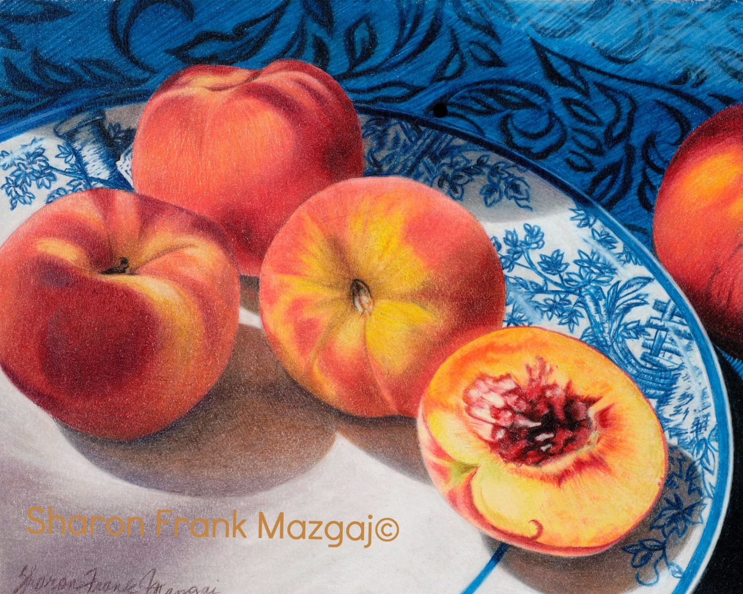 Peaches with Blue