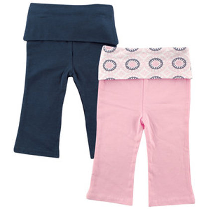 2 Pack Yoga Pants for Baby Girl - Ornamental Pattern