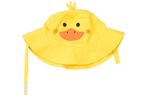 Duck sun hat for baby