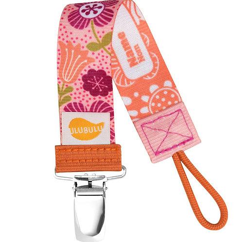 Floral Mauve pacifier clip by Ulubulu