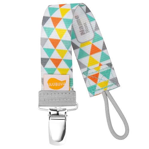 Triangles Pacifier Clip by Ulubulu