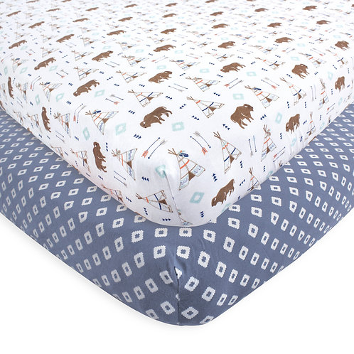 Hudson Baby Teepee Fitted Crib Sheet