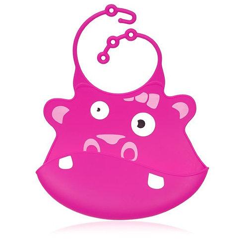 Gertrude the Hippo Silicone Bib